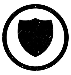 Shield icon rubber stamp vector
