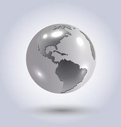 Silver earth vector