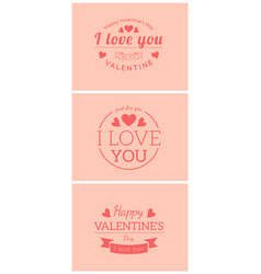 st valentine card template vector image vector image