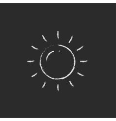 Sun icon drawn in chalk vector image vector image