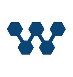 w letter business logo design vector image vector image