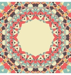 Yoga symbol Round Mandala with Place for Text vector image vector image