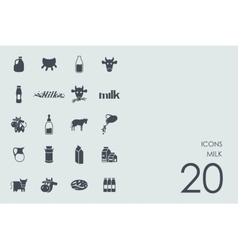 Set of milk icons vector
