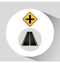Crossroad sign concept graphic vector