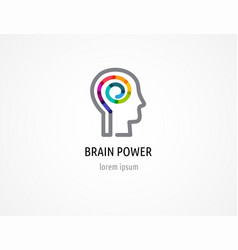 Colorful logo of human head brain symbol vector