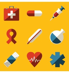 Flat icon set medical vector
