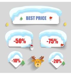Winter design Christmas sale stickers discounts vector image