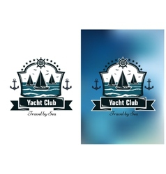 Yacht club emblems vector