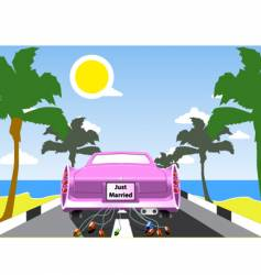 wedding beach scene vector image