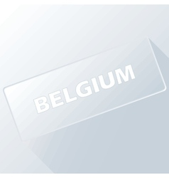 Belgium unique button vector