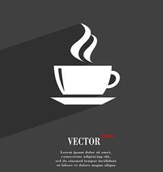 Tea coffee icon symbol flat modern web design with vector