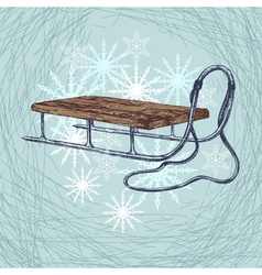 Winter sleigh vector
