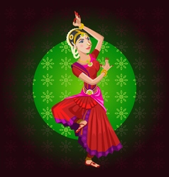 Indian classical dance vector
