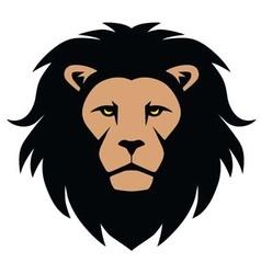 Lion Head Mascot Cartoon vector image