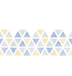 Abstract textile ikat triangles horizontal vector image vector image