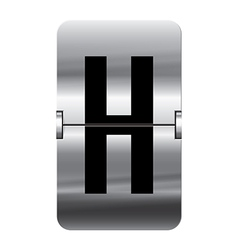 Alphabet silver flipboard letters h vector image
