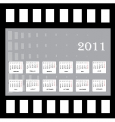 annual calendar for 2011 vector image