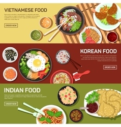 Asian street food web banner vector