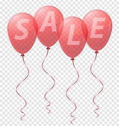 balloons sale 01 vector image