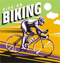 biking vector image vector image