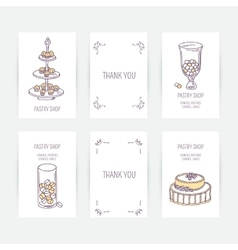 Business card set with candy bar icons in vector