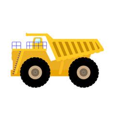 Cartoon big heavy dump truck vector