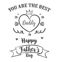 Hand draw card for father day vector
