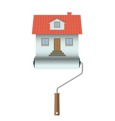 home construction house icon isolated on white vector image vector image