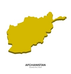 Isometric map of afghanistan detailed vector