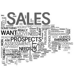It sales determine your clients needs text vector