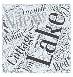 Lake view cottage word cloud concept vector