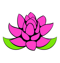 lotus flower icon cartoon vector image