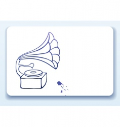 old gramophone vector image vector image