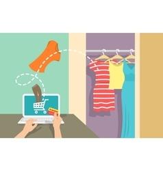 Online shopping flat banner vector image vector image