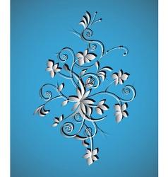 Ornament floral vintage vector