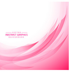 Pink wavy abstract background vector
