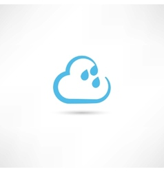Rain cloud icon vector