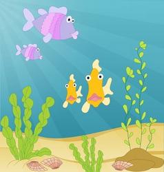 Sea creatures underwater vector image