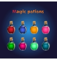 Set if magic potions Collections of elixirs vector image