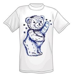 T-shirt standing bear vector