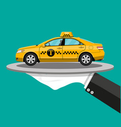 taxi service concept vector image vector image