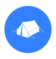 Tent icon in black style isolated on white vector