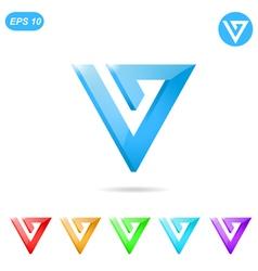V letter logo concept vector