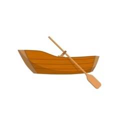 Wooden boat with a peddle vector