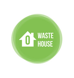 Zero waste house concept icon design element vector