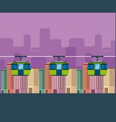 cityscape buildings skyline background vector image