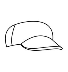 Baseball cap casual clothes fashion sport vector