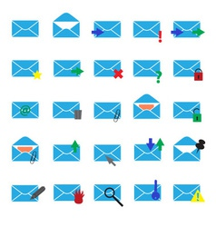 Computer mail simple light blue icons eps10 vector