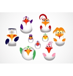 cute little birds vector image