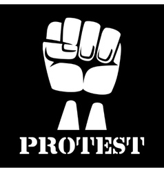 Raised fist sign of protest and revolution vector image